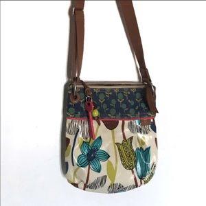 Fossil Floral Keyper crossbody bag